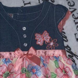 Swiggles Dresses - A wiggles 24m denim flower dress